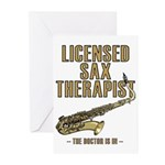 Licensed Sax Therapist Greeting Cards (Pk of 10)