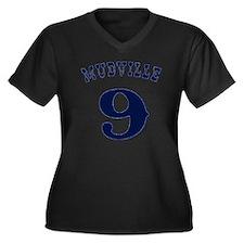 Mudville9 (b Women's Plus Size Dark V-Neck T-Shirt