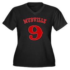 Mudville9 (r Women's Plus Size Dark V-Neck T-Shirt