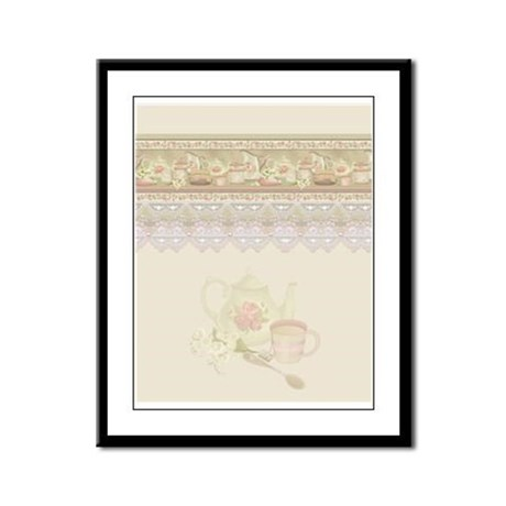 Vintage Tea Framed Panel Print