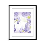 Lavender Sweet Peas Floral Framed Panel Print