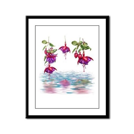 Flower Fuchsia Faerie Framed Panel Print