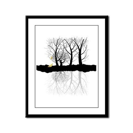 Last Leaves of Autumn Framed Panel Print