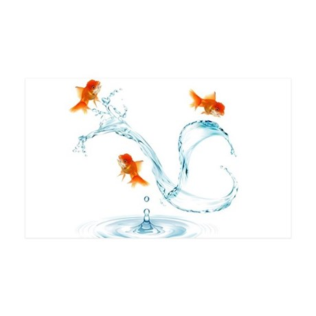 Splashing Fish 35x21 Wall Decal