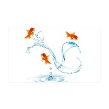 Splashing Fish Wall Decal
