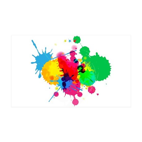 Abstract Paint Splatters 35x21 Wall Decal
