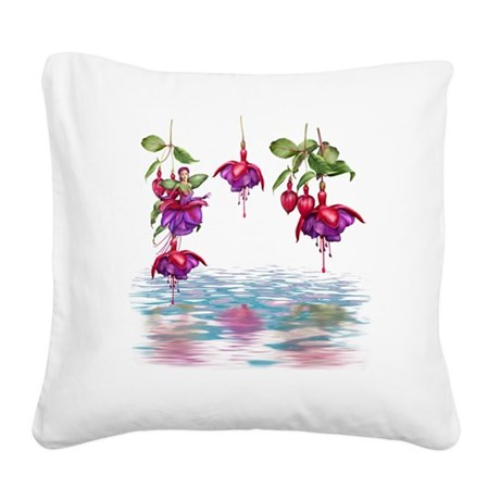 Flower Fuchsia Faerie Square Canvas Pillow