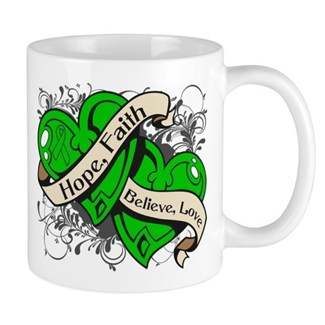 Bile Duct Cancer Hope Hearts Mug