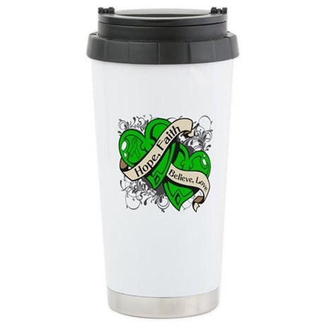 Bile Duct Cancer Hope Hearts Ceramic Travel Mug
