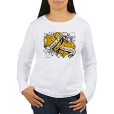 Appendix Cancer Hope Hearts T-Shirt