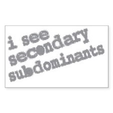 secondary subdominants Decal