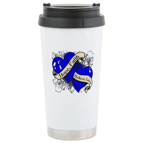ALS Hope Faith Dual Hearts Ceramic Travel Mug