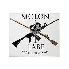 STRlogoblkrifleMOLONLABE Throw Blanket