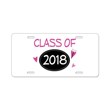 Class of 2018 (butterfly) Aluminum License Plate