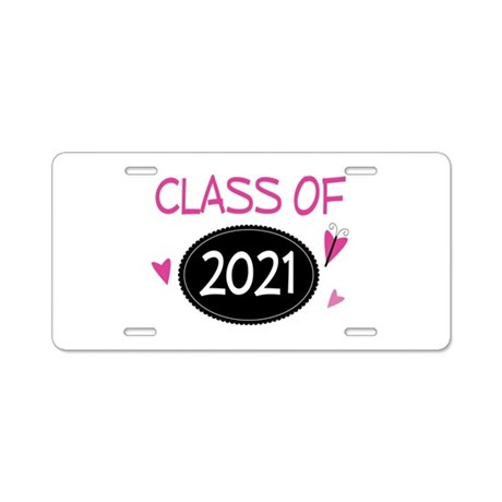 Class of 2021 (butterfly) Aluminum License Plate