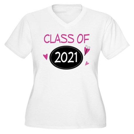 Class of 2021 (butterfly) Women's Plus Size V-Neck