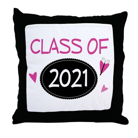 Class of 2021 (butterfly) Throw Pillow