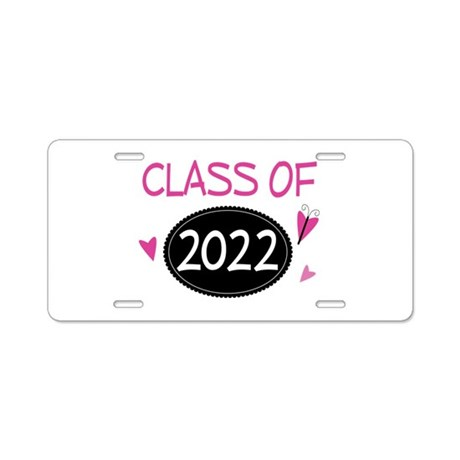 Class of 2022 (butterfly) Aluminum License Plate