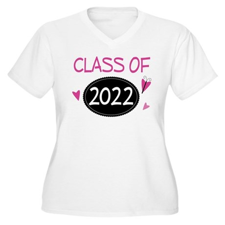 Class of 2022 (butterfly) Women's Plus Size V-Neck