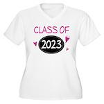 Class of 2023 (butterfly) Women's Plus Size V-Neck