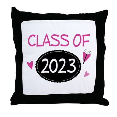 Class of 2023 (butterfly) Throw Pillow