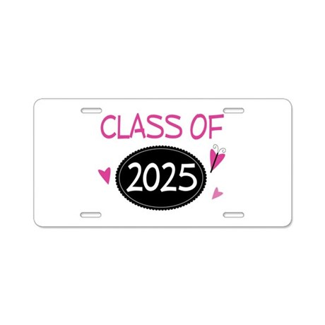 Class of 2025 (butterfly) Aluminum License Plate