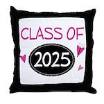 Class of 2025 (butterfly) Throw Pillow