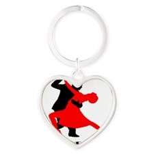 Rule the floor Heart Keychain
