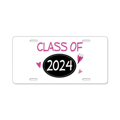 Class of 2024 (butterfly) Aluminum License Plate