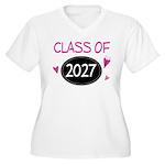 Class of 2027 (butterfly) Women's Plus Size V-Neck