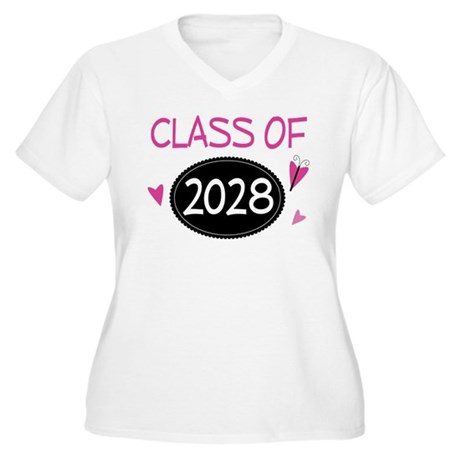 Class of 2028 (butterfly) Women's Plus Size V-Neck