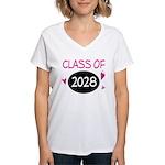 Class of 2028 (butterfly) Women's V-Neck T-Shirt