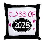 Class of 2028 (butterfly) Throw Pillow