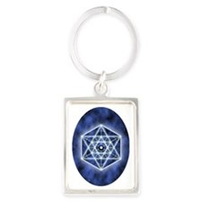Sirius ornament_oval Portrait Keychain