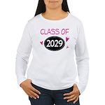 Class of 2029 (butterfly) Women's Long Sleeve T-Sh