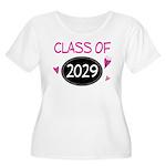 Class of 2029 (butterfly) Women's Plus Size Scoop