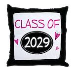 Class of 2029 (butterfly) Throw Pillow