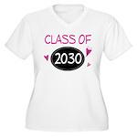 Class of 2030 (butterfly) Women's Plus Size V-Neck