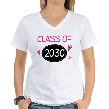 Class of 2030 (butterfly) Women's V-Neck T-Shirt