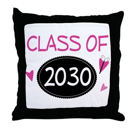 Class of 2030 (butterfly) Throw Pillow