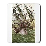 Giant Squid vs. Pirates color Mousepad
