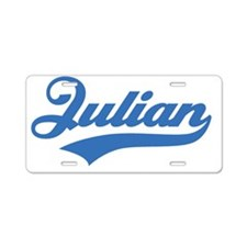 TeamJulian-blue Aluminum License Plate