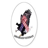Disabled Veteran Oval Decal
