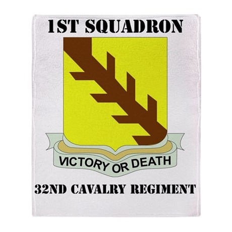 32ND CAVALRY RGT WITH TEXT Throw Blanket