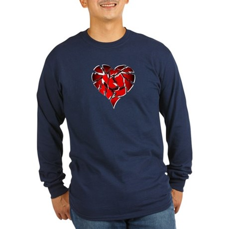 Broken Heart Long Sleeve Dark T-Shirt