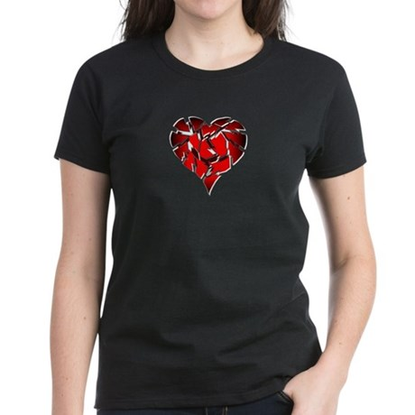 Broken Heart Women's Dark T-Shirt