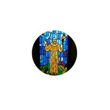 St. Francis Stained Glass Mini Button