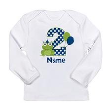 2nd Birthday Frog Long Sleeve T-Shirt