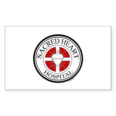Sacred Heart Rectangle Sticker