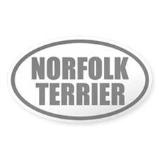Norfolk Terrier Oval Decal